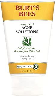 Burt's Bees Acne Pore Refining Scrub, 4-Ounce Tubes (Pack of 3)