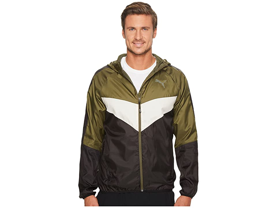 PUMA Power Vent Windbreaker (Olive Night) Men
