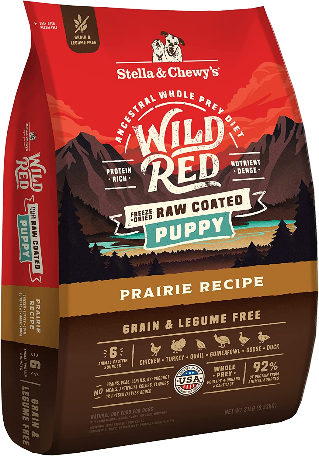 Stella & Chewy's Wild Red Raw Coated Kibble Dry Dog Food