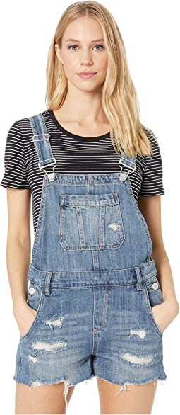 Denim Short Overalls in Fling Cleaning