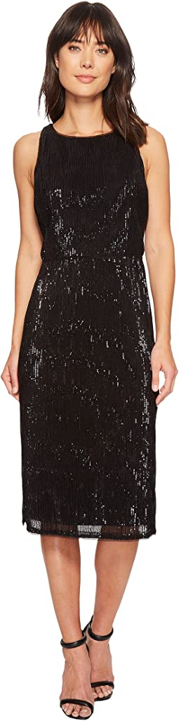 Adrianna Papell - Sleeveless Stretch Baby Sequin Middle Cocktail Dress