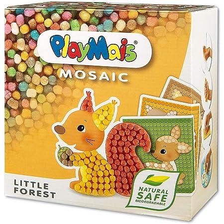 PlayMais Mosaic Little Forest kit de Loisirs créatifs pour Fille et garçon de 3 Ans +   2300+ pièces & 6 modèles de mosaïque avec des Animaux de la forêt   stimule la créativité et la motricité