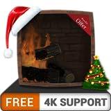 chimenea de fogata gratis HD: disfrute de las frías vacaciones de Navidad en invierno en su TV HDR 4K, TV 8K y dispositivos de fuego como fondo de pantalla, decoración para las vacaciones de Navidad,