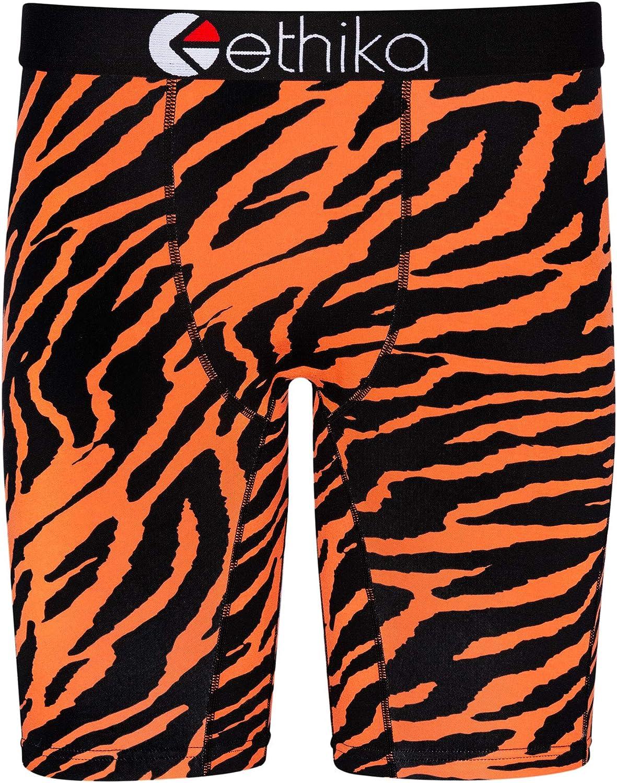 Ethika Mens Staple Boxer Briefs | Tiger Orange