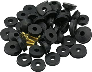 Flat and Beveled Faucet Washers and Brass Bibb Screws Assortment, 48 Pieces