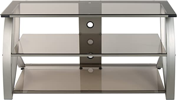 Calico Designs 60620 Futura Advanced TV Stand 48 Inch Width By 19 Inch Depth By 23 5 Inch Height Champagne With Bronze Glass