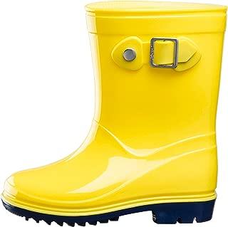 Silky Toes Boys Girls Rain Boots for Kids, Waterproof Toddler Little/Big Kids Classic Wellies