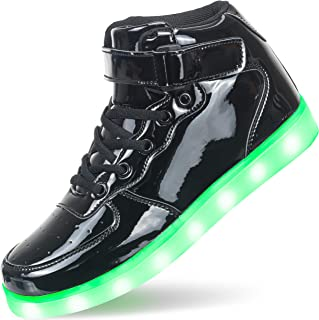 APTESOL Niños Juventud LED Light up Trainers Niños Niñas High Top Cool Intermitente Zapatos Unisex Zapatillas