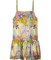 Paint Flowers Silk Romper Early (Toddler/Little Kids/Big Kids)