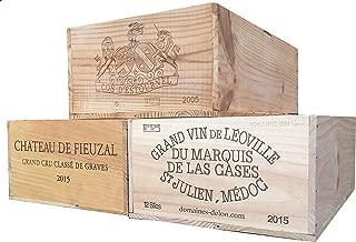 Vineyard Crates One (1) Decorative French Wine Crate - Wooden Box for Wine Storage Wedding Decor DIY Projects Garden Planter Boxes NO Lid NO Storage Inserts (12BtlStd)