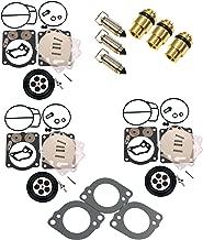(Compatible With Yamaha) Triple Mikuni Carburetor Rebuild Kit w Needle, Seat & Gaskets Fits MANY XLT1200 XL1200 & GP1200-R