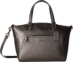 Metallic Leather Prairie Satchel