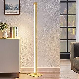 ZMH Lampadaire LED Dimmable en Bois 148CM Salon Lampadaire Chambre 12W 960 Lumen Lampadaire avec Câble 300CM pour Chambre ...