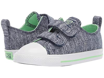 Converse Kids Chuck Taylor All Star 2V Fade Pop Ox (Infant/Toddler) (Navy/Light Aphid/Green/White) Boys Shoes