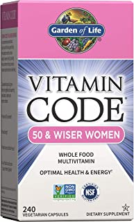 Garden of Life Multivitamin for Women 50 & Over, Vitamin Code Women 50 & Wiser Multi - 240...
