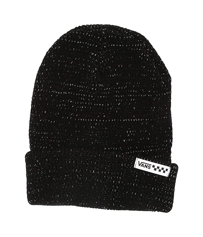 Vans  After Dark Reflective Beanie (Black/Reflective) Caps