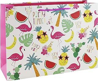 Clairefontaine 24720-6C - Un sac cadeau shopping 37,3x11,8x27,5 cm 210g, Tropical