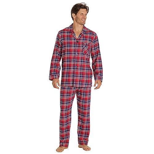 bdf6215739 EVERDREAM Sleepwear Mens Flannel Pajamas, Long 100% Cotton Pj Set