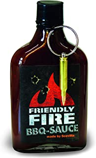 Scovillas FRIENDLY FIRE Hot BBQ Sauce with real bullet, 247 ml