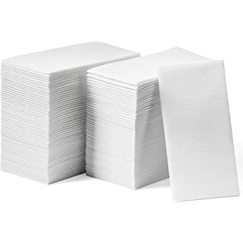 Lintext Disposable Linen-Feel Guest Towels [Extra-Soft -Pack of 200] - Disposable Cloth-Like Hand Towels - Soft and Absorbent Paper Napkin for Kitchen, Bathroom, Party, Wedding, Or Event