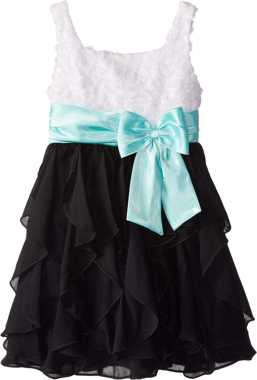 Rare Editions Big Girls' White To Black Social Dress