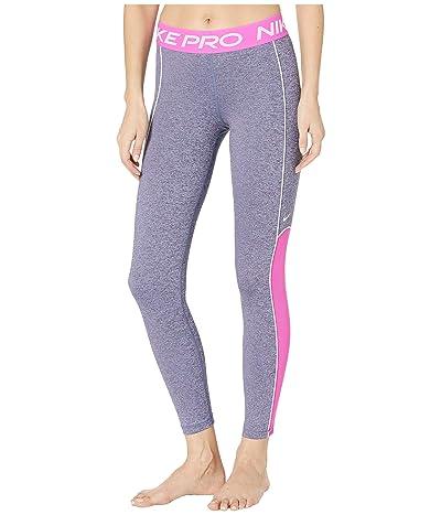 Nike Pro Tights Space Dye (Cerulean/Fire Pink/Black/White) Women