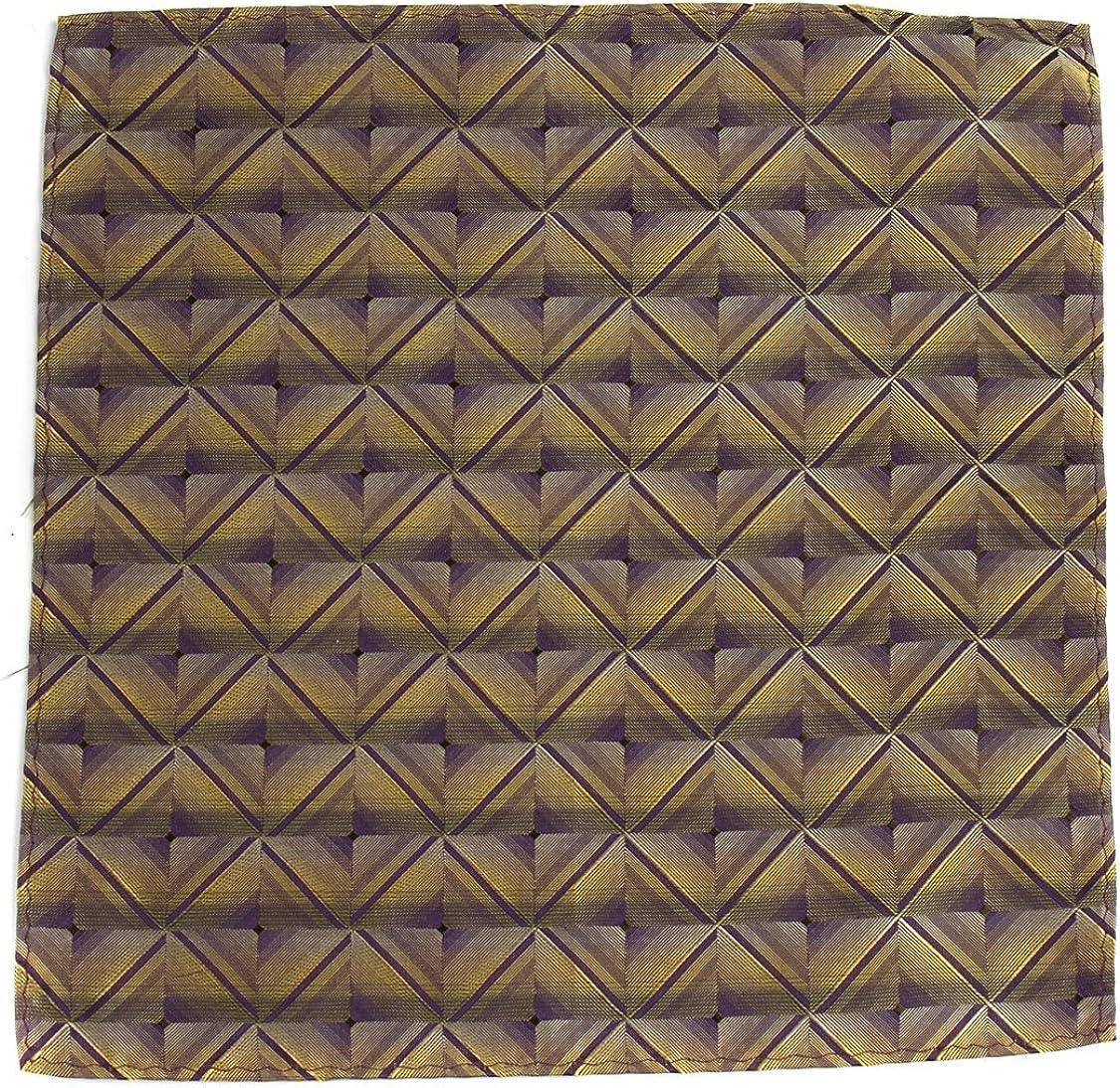 PS-Z-231 - Aficionado Pocket Square - Brown