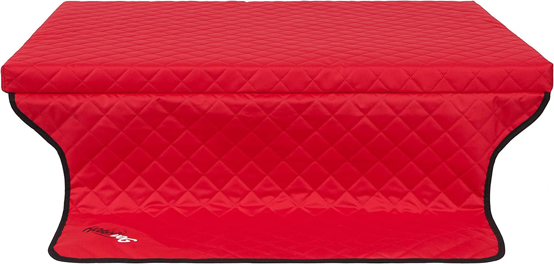 HOBBYDOG R2 Light Dog Mattress Bed Sofa Suitable for Trunks, 100 x 80 cm, Red