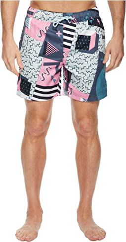 Original Penguin Print Swim Trunk