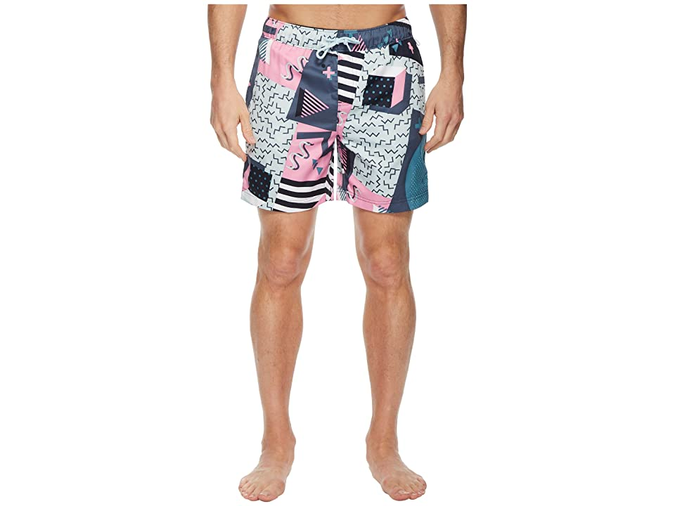 Original Penguin Print Swim Trunk (Dark Sapphire) Men
