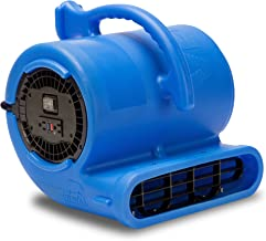 B-Air Vent VP-33 1/3 HP Air Mover Carpet Dryer Floor Fan for Plumbing Janitorial Water Damage Restoration Blue