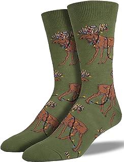 Socksmith Mens Xmas Lights Moose