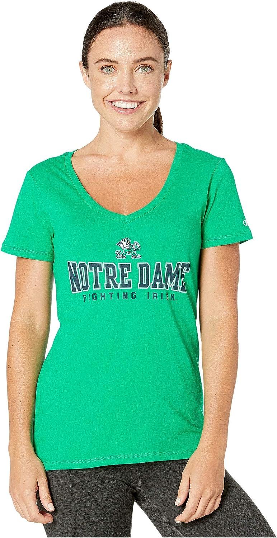 Champion College Womens Notre Dame Fighting Irish University V-Neck Tee