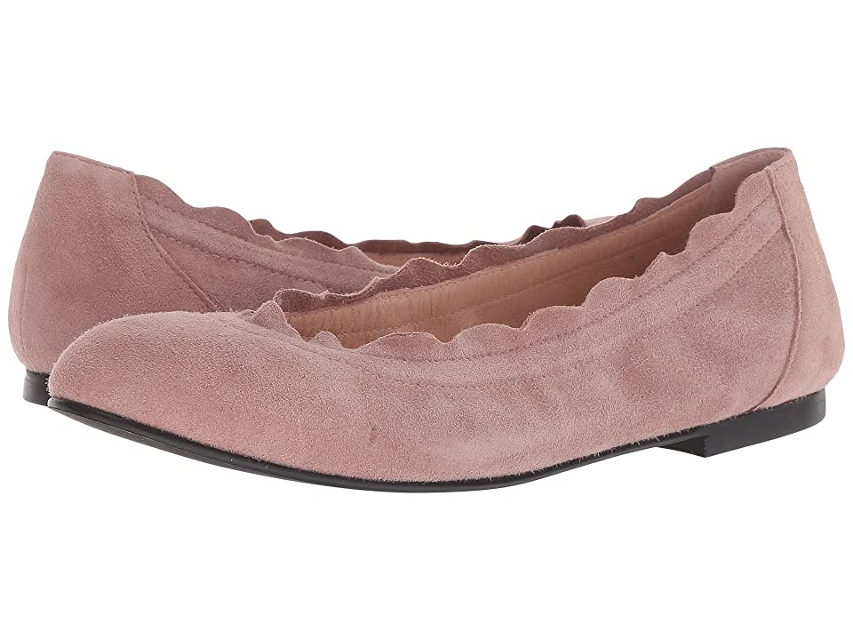 French Sole Cuff Flat (Dusty Pink Suede) Women