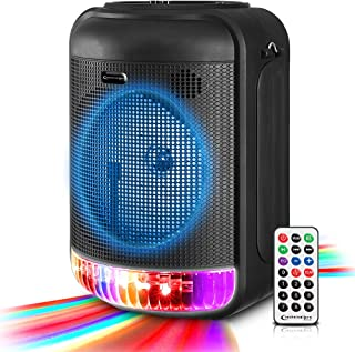 """$69 » Sponsored Ad - Technical Pro 600 Watts Rechargeable 8"""" Bluetooth LED Speaker with USB, Aux, Mic Inputs, FM Radio, TWS Ster..."""