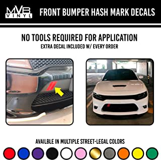 Front Bumper Hash Mark Decals | Vinyl Body Graphics Charger Challenger