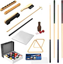 Pool Table Accessory 32 Piece Kit- Billiards Balls, Cues, Stick Repair, Roman Rack, Table Brush, Table Cover, Tally Bottle by Trademark Gameroom