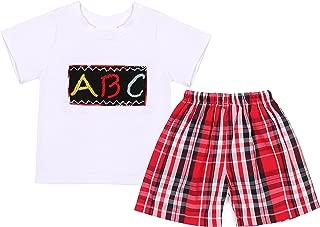 Babeeni Baby Boys 2pcs Shorts Set Smocked Alphabet