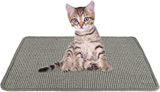 SlowTon Cat Scratcher Mat, Natural Sisal Woven Rope Scratching Pad for Cat Grinding Claws & Protecting Carpet Rug Furnitur...