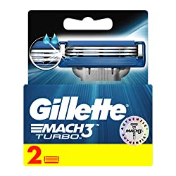 Gillette Mach3 Turbo Manual Shaving Razor Blades - 2s Pack (Cartridge)