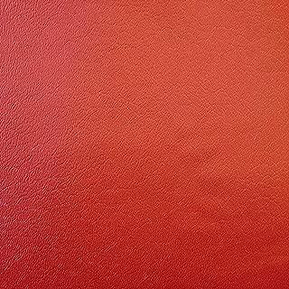 Red Vinyl Fabric Felt Backed Soft Low Grain Texture Pliable Faux Leather Matte Finish 57