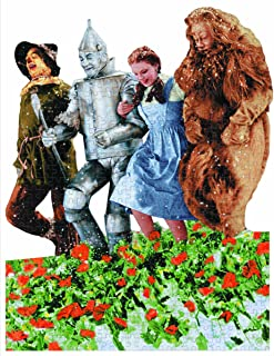 Paper House Productions Jigsaw Shaped Puzzle 15 by 19-Inch, The Wizard of Oz - Poppy Field (500 Pieces)