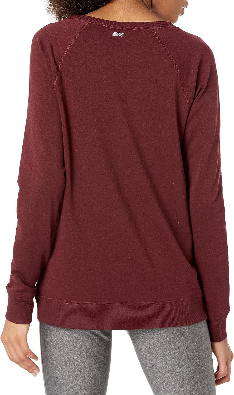 Amazon Essentials Women's Studio Terry Long-Sleeve Cross-Front Sweatshirt