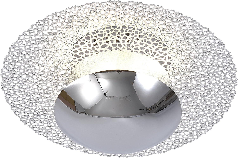 LED,LED Wand-Deckenleuchte Nevis silber-chrom 300mm, Paul Neuhaus,1080lm, dimmbar