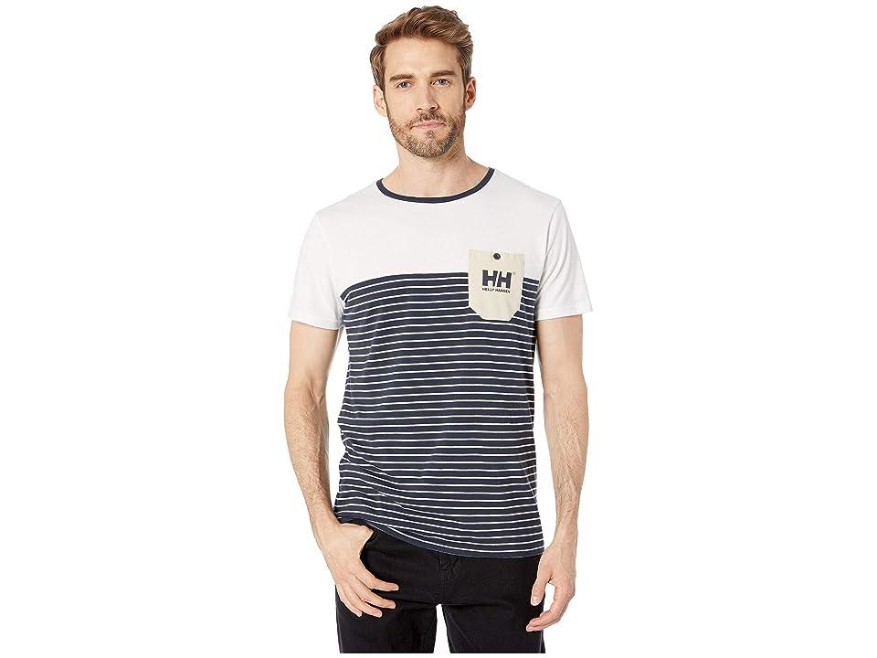 Helly Hansen Fjord T-Shirt (Navy Stripes) Men