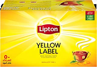 Lipton Yellow Label Black Tea Bags - 50 Count