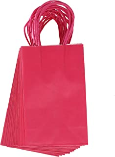Darice Small Gift Bag: Pink, 5 x 8 inches, 13 Pieces