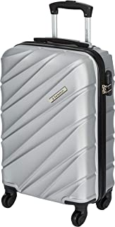United Colors of Benetton Roadster Hardcase Luggage ABS 57 cms Silver Grey Hardsided Cabin Luggage (0IP6HAB20B02I) - 22 Inch