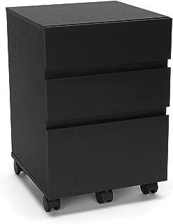 Essentials File Cabinet - 3-Drawer Wheeled Mobile Pedestal Cabinet, Espresso (ESS-1030-ESP)