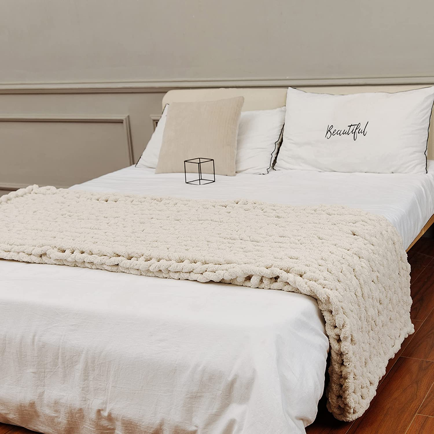 Department store clootess Chenille Chunky Knit online shop Blanket Dec Beautiful Throw Home -
